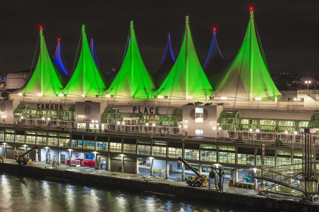 Canada Place Sails of Light, Vancouver, BC